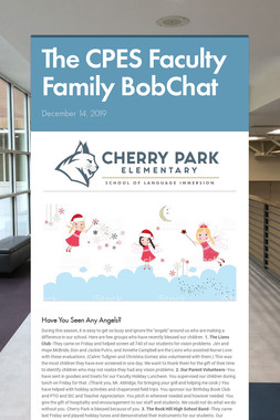 The CPES Faculty Family BobChat
