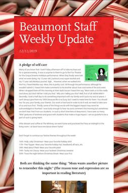 Beaumont Staff Weekly Update