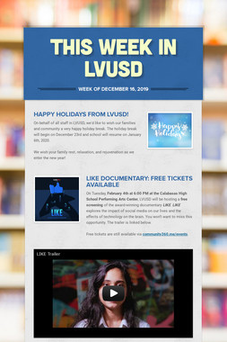 This Week in LVUSD