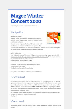 Magee Winter Concert 2020