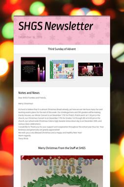 SHGS Newsletter