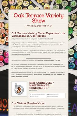 Oak Terrace Variety Show