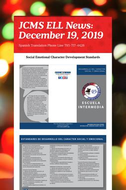 JCMS ELL News: December 19, 2019