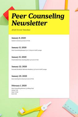 Peer Counseling Newsletter