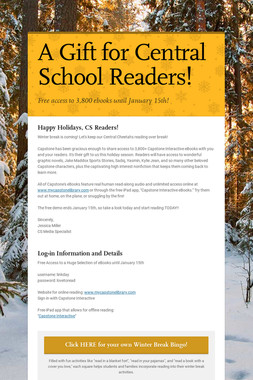 A Gift for Central School Readers!