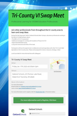 Tri-County VI Swap Meet