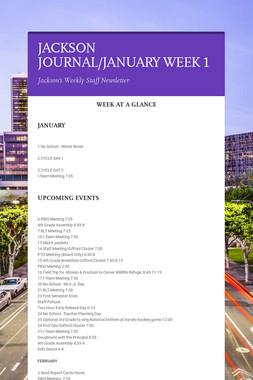 JACKSON JOURNAL/JANUARY WEEK 1