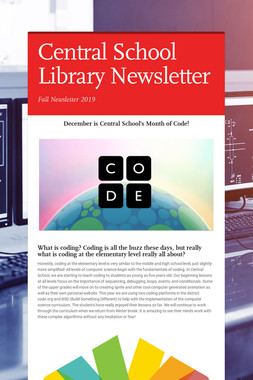 Central School Library Newsletter