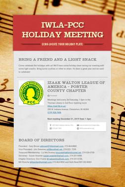IWLA-PCC holiday meeting