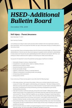 HSED-Additional Bulletin Board