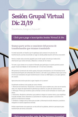 Sesión Grupal Virtual Dic 21/19