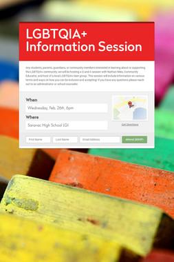 LGBTQIA+ Information Session