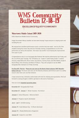 WMS Community Bulletin 12-18-19