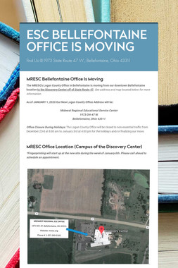 ESC BELLEFONTAINE OFFICE IS MOVING