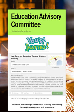 Education Advisory Committee