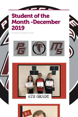 Student of the Month -December 2019