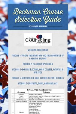 Beckman Course Selection Guide