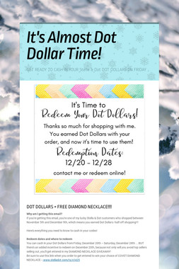 It's Almost Dot Dollar Time!