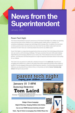 News from the Superintendent