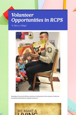 Volunteer Opportunities in RCPS