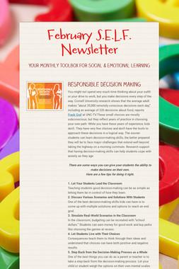 February S.E.L.F. Newsletter