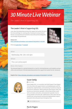 30 Minute Live Webinar