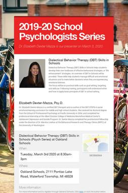2019-20 School Psychologists Series