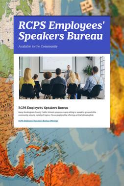 RCPS Employees' Speakers Bureau
