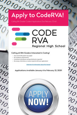 Apply to CodeRVA!
