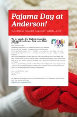 Pajama Day at Anderson!