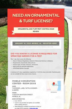 Need an Ornamental & Turf License?
