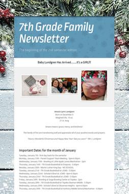 7th Grade Family Newsletter