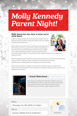Molly Kennedy Parent Night!