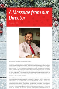 A Message from our Director