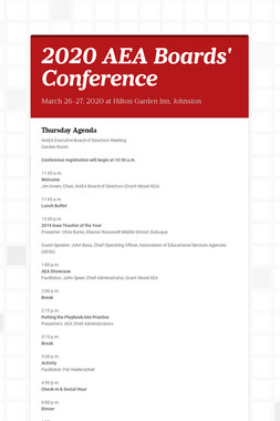 2020 AEA Boards' Conference