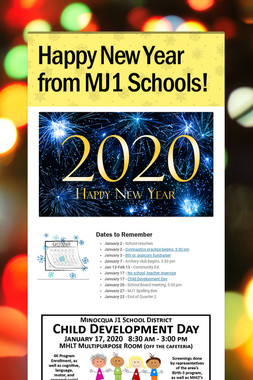 Happy New Year from MJ1 Schools!