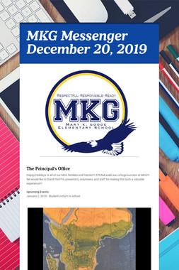 MKG Messenger December 20, 2019