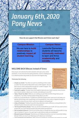 January 6th, 2020 Pony News