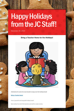 Happy Holidays from the JC Staff!