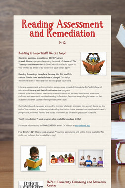 Reading Assessment and Remediation
