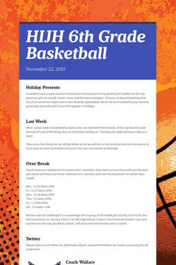 HIJH 6th Grade Basketball