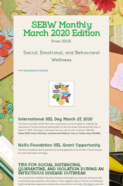SEBW Monthly March 2020 Edition