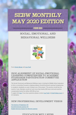 SEBW Monthly May 2020 Edition