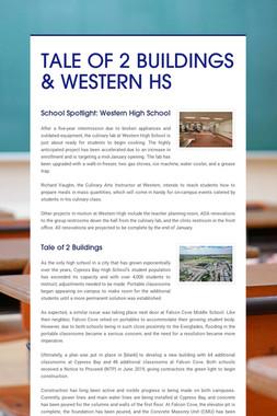 TALE OF 2 BUILDINGS & WESTERN HS