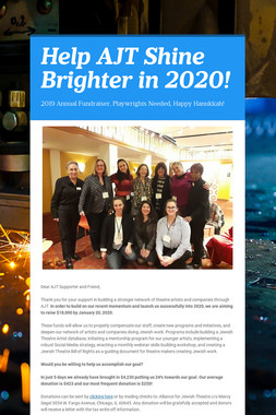 Help AJT Shine Brighter in 2020!