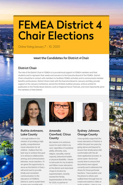 FEMEA District 4 Chair Elections