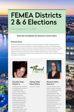 FEMEA Districts 2 & 6 Elections