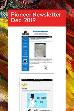 Pioneer Newsletter Dec, 2019