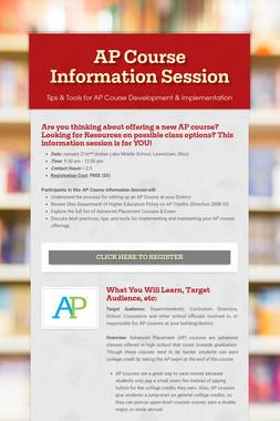 AP Course Information Session