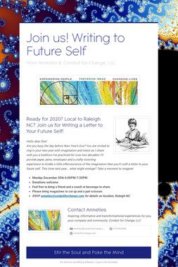 Join us! Writing to Future Self